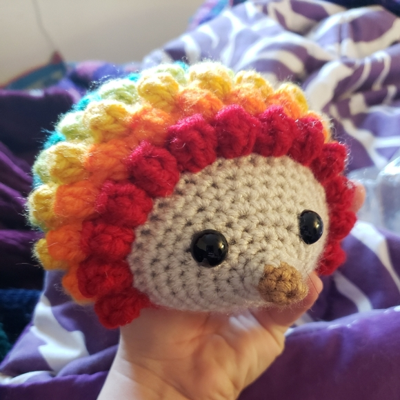 Crochet Rainbow Hedgehog